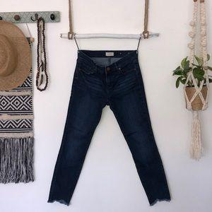 LOFT outlet fringed hemline jeans